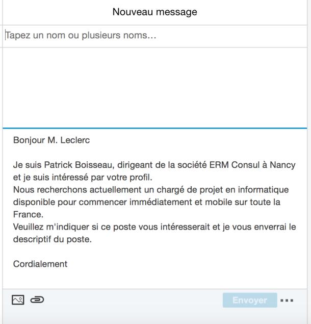 Répondre à Un Message Professionnel En Français Sur Linkedin
