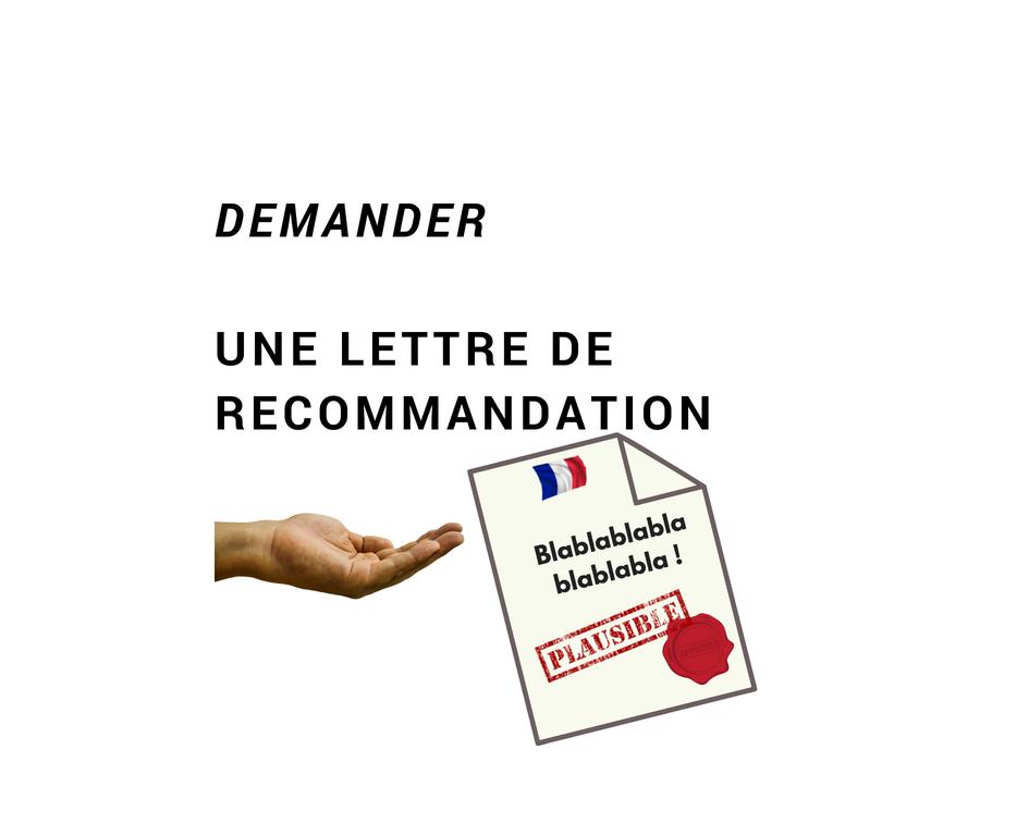 Exemple De Demande De Lettre De Recommandation A Un Professeur Ecrire En Francais Polyglottes