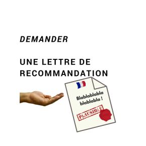 Exemple de demande de lettre de recommandation à un professeur • Écrire enfrançais