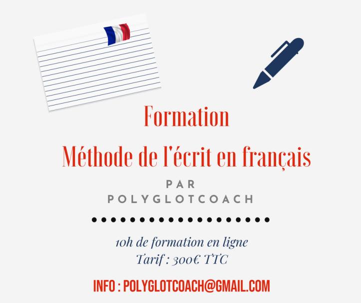 formation méthode de l'écrit en français Polyglotcoach.png