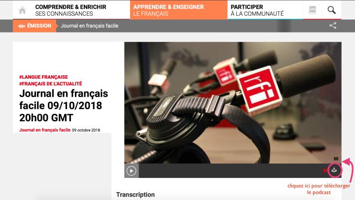 podcast rfi journal en français facile avis apprendre le français learn french aprender francés.png