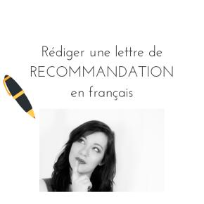 Rédiger en français une lettre de recommandation pour un collaborateur – Exemple etexplications