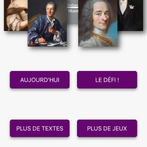 Test de l'appli «Un texte, un jour», une appli pour découvrir la littérature françaiseclassique