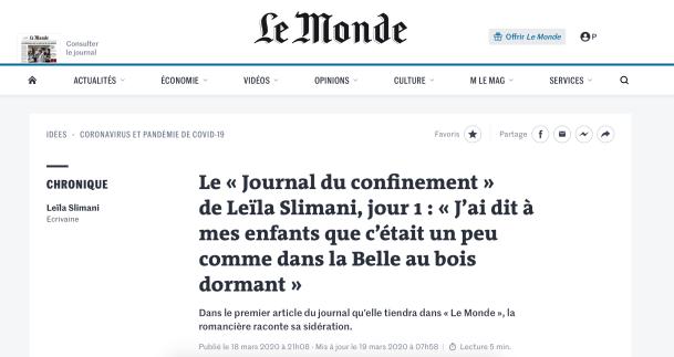 journal de confinement de leila slimani le Monde.png